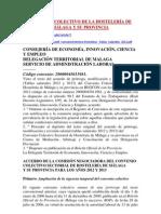 CONVENIO COLECTIVO DE LA HOSTELERÍA DE MÁLAGA Y SU PROVINCIA