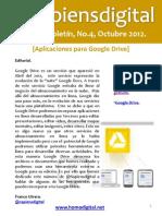 @Sapiensdigital, E-boletin, No. 4 -  Aplicaciones para Google Drive.