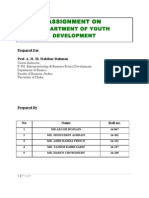 Assingment on Department of Youth Development