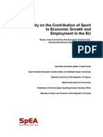 Study on the Contribution of Sport to Economic Growth and Employment in the EU