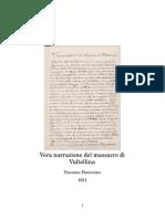 Vera Narrazione Del Massacro Di Valtellina - Vincenzo Paravicino