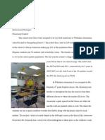 Classrom Context Hicks