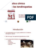 Diagnostico Clinico Tendinopatias XXJJTrauma