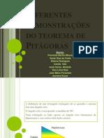 Diferentes demonstrações do teorema de Pitágoras