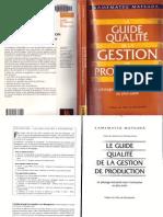 Le Guide qualité de la gestion de production