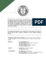 2012 TPSB May Minutes