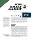 Anemia in Pregnancy - ACOG 2008