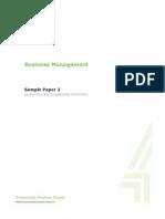 Business Management Sample Paper 2
