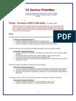 2012 TPS Service Priorities