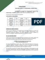 Convocatoria Oficial 8vo. Nacional Open y a Sucre