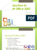An Introduction to Microsoft Office 2007 - Lecture