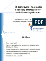 Sydney Martin - Parent Lecture -Activities of Daily Living, Fine Motor Skills and Sensory Stradegies for Children With Down Syndrome - English