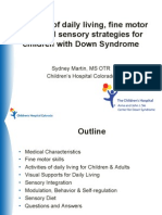 Sydney Martin - Professional Lecture - Activities of Daily Living, Fine Motor Skills and Sensory Stradegies for Children With Down Syndrome - English