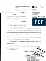 MOCO GENERAL CONSTRUCTION CORP v. PETER ONITIRI Complaint