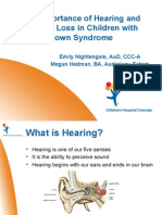 Emily Nightengale and Megan Hedman - The Importance of Hearing Loss in Children With Down Syndrome - English