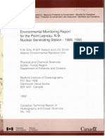 Point Lepreau Monitoring 1989-90
