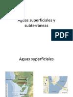 Aguas superficiales y subterráneas