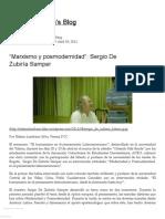 """""""Marxismo y posmodernidad""""_ Sergio De Zubiría Samper « Nelsonlombana's Blog"""