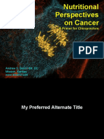 Nutritional Perspectives on Cancer