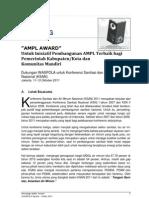 Prosiding Air Minum dan Penyehatan Lingkungan (AMPL) Award