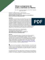 Políticas y programas de alimentación y nutrición en México