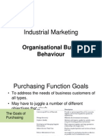 Organisational Buyer Behaviour