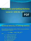Stokes Law Presentation