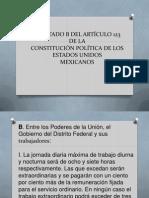 APARTADO B DEL ARTÍCULO 123 DE LA