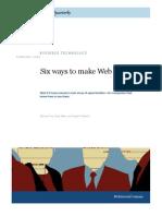6 Ways to Make Web 2.0 Work