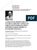 ¿Cömo se ha producido la acumulación capitalista en el Chile de los últimos 40 años