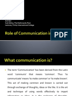 Role of Communication in Business