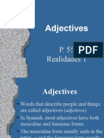 adjective agreement power point