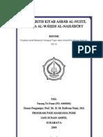 Studi Kritis Kitab Asbab Al-Nuzul Alwahidi Al-Naisaburi