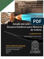 2012 - Estado del arte Bancos de Ensayos Estáticos para Motores de Cohete