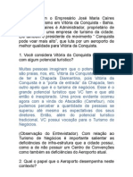 Entrevista Com Jose Maria Caíres_Turismo no Sudoeste da Bahia