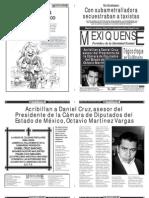 Versión impresa del periódico El mexiquense 27 de noviembre 2012