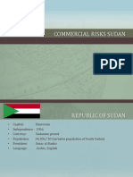 Commercial Risks Sudan