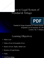 Introduction to Legal System of Trinidad and Tobago