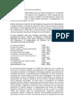 origen e historia modelo económico boliviano