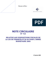 Note Circulaire Num 715-2005