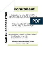 Kaman Corp Recruitment 11.28.12