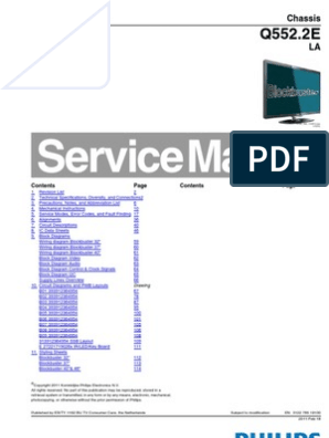 Philips 40pfl6606h 12 Chassis q552 2e-La Sm | Hdmi | Soldering