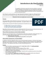 Writing & Creative Process Final Portfolio Fall 2012