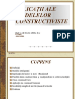 Aplicaţii ale modelelor constructiviste