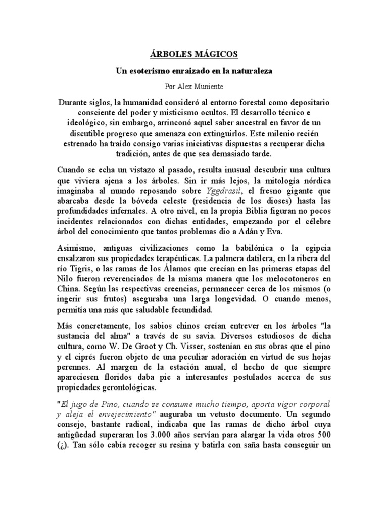 ÁRBOLES MÁGICOS
