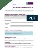 Module Request Form 2012