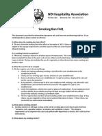 ND Hospitality Association's Smoking Ban FAQ