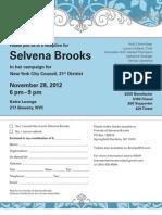 Selvena Brooks Reception Invite