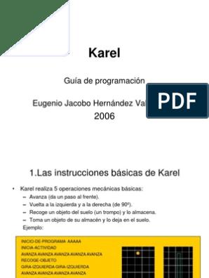 Karel Guía De Programación Robot Tecnología