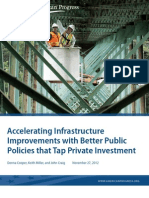 Accelerating Infrastructure Improvements with Better Public Policies that Tap Private Investment
